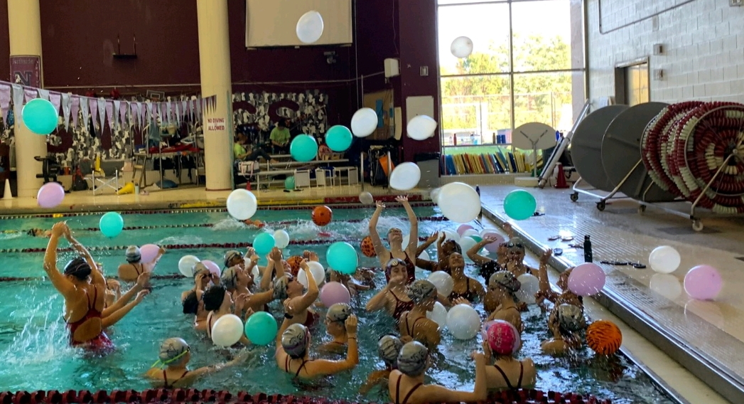 Women's Swimming and Diving Senior Day celebration.