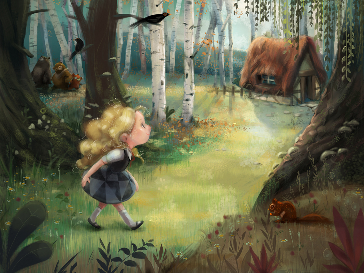 Goldilocks finding her way.