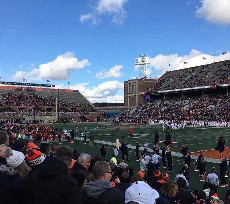 Catch Up With Northside Alumni at the Illinois vs. Northwestern Game