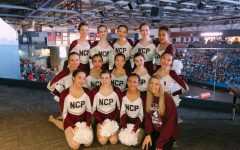 Northside's Poms team at the state competition.