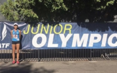 Elia at the Junior Olympics.
