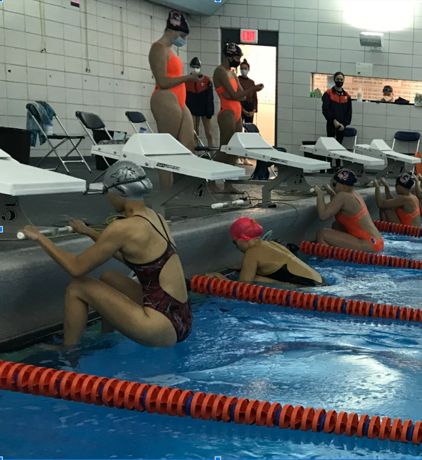 Northside vs. Latin swim meet. Photo by Jazmin Santiago
