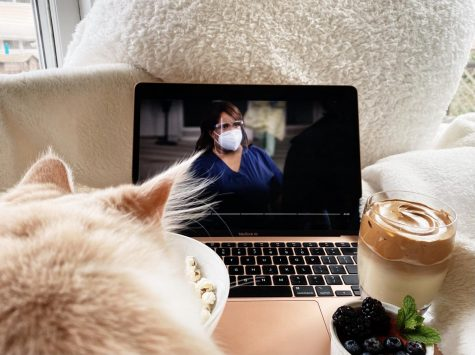 Grab snacks and pets while catching up on the newest season of Grey's Anatomy